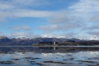 Castle Stalker and the Jubilee Bridge
