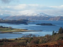 Cycling on Lismore Island from Port Appin Ferry